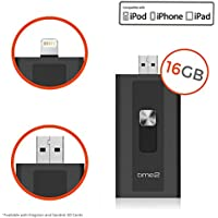 Flash Drive iPhone USB 3.0 per iPad & iPod con Connettore Lightning - Espansione Memoria fino a 16GB - Connetti per Accesso Immediato - Certificazione MFI - time2