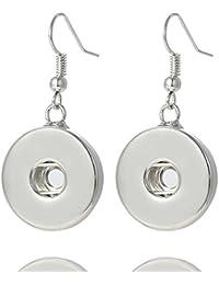 Morella Damen Click-Button Ohrring für 18 oder 20 mm Click-Buttons