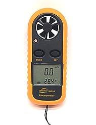 Reelva Digital LCD Handheld Wind Speed Gauge Meter Measure Anemometer With Battery