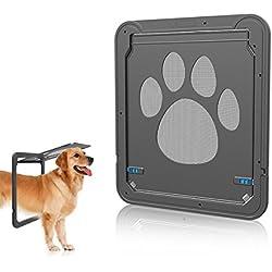 PETCUTE Bloqueo de Puerta Automático del Animal Doméstico del Perro de la Puerta de la Puerta de Entrada con Llave Para el Mediano Grande Perros y Gatos Patrón de Malla Linda