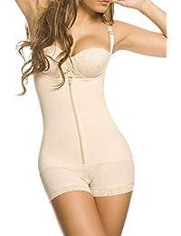 YIANNA Mujer Body Reductor Busto Abierto Corsé sin Costuras Faja Reductora Modeladora Shapewear Adelgazante