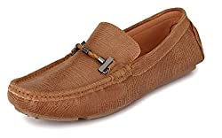 San Frissco Mens Beige Leather Loafers - 9 UK