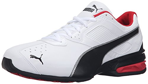 PUMA Men's Tazon 6 FM Puma White/ Puma Black/ Puma Silver Running Shoe - 9.5 D(M) US