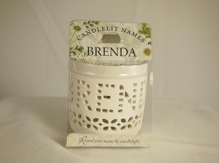 History & Heraldry Candlelit Names - Brenda - Tea Light Lite Candle 001850037-HH by History & Heraldry