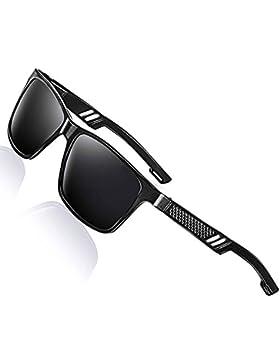 Moda Gafas de sol marco de metal para hombres mujeres polarizadas,Deportes estilo conducción gafas tonos para...