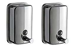 Truphe Stainless Steel Soap Dispenser Set Of 2