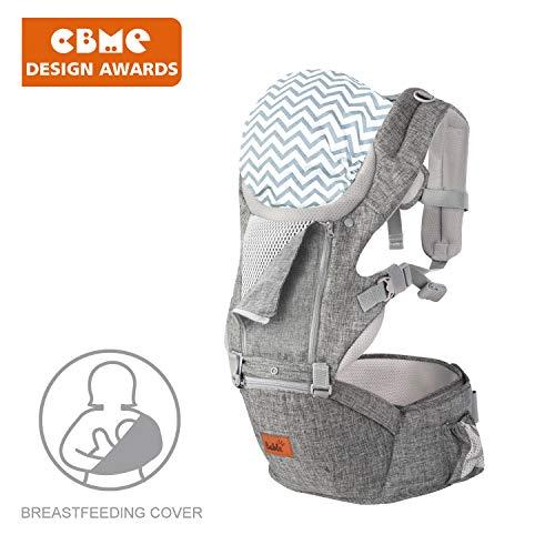 Bable Ergonomische Babytrage für Säuglinge bis 15 Kg, Ideal Kindertrage/Rückentrage Trage für alle Jahreszeite Bauchtrage für Wanderung, Shopping