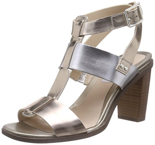 Clarks Image Crush, Damen Knöchelriemchen Sandalen, Mehrfarbig (Metallic Multi Leather), 38 EU (5 Damen UK)
