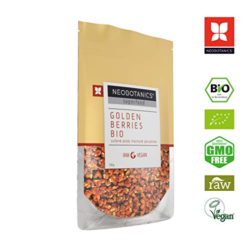 NEOBOTANICS® Premium Bio Physalis - 150 g - Superfood Snack - getrocknet - Golden Berries - Kapstachelbeeren - Inka-Beeren - vegan - raw - Organic Food - (DE-ÖKO-006) Praktische Zipp-Verpackung