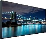 InfrarotPro | Infrarotheizung 750 Watt Bildheizung | Made in Germany | Geprüfte Technik | Ultra-HD Auflösung, A05: Stadt New York, Golden Gate, 120x60x3cm