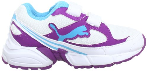 Puma AXIS 2 Mesh V Kids 186133 Unisex-Kinder Laufschuhe Weiß (white-sparkling grape-blue atoll 10)