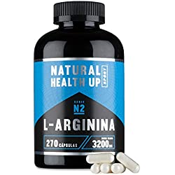 L-arginine to increase strength, vigor and muscle mass - Sports supplement of arginine to improve blood circulation and the supply of muscle energy (270 Capsules)