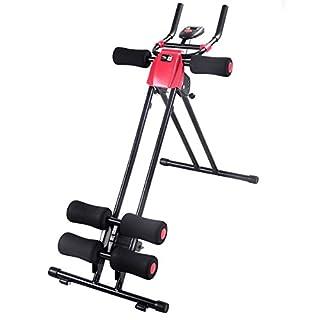 FDS Bauchtrainer Rückentrainer Sportgerät Faltbarer Oberkörper Muskeltrainer 5-Minuten-Trainer Fitnessgerät