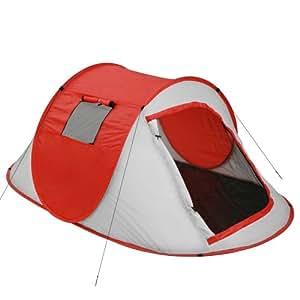 Jago Wurfzelt Camping Zelt Pop Up Zelt Cherry Tomato für bis zu 2 Personen