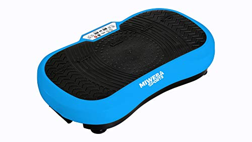 Miweba Sports Fitness 2D Vibrationsplatte MV100-3 multidimensionale Vibrationszonen - Oszillierend - 250 Watt (Blau)