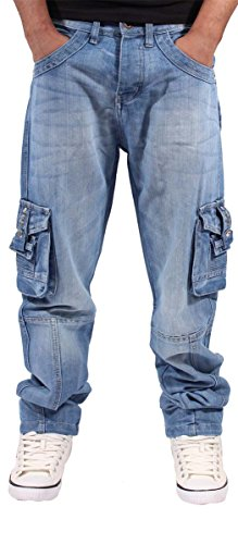 peviani-mens-boys-pv-stone-wash-blue-cargo-conflict-combat-star-jeans-w30-l33-