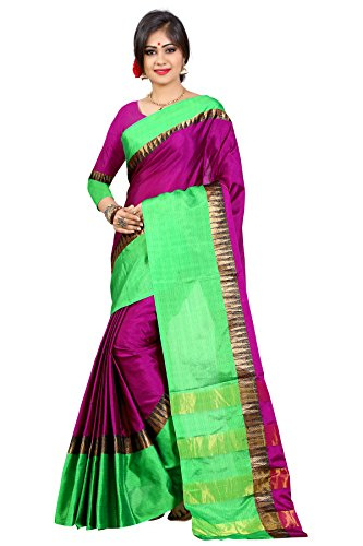 Traditional Ethnic Tassar Silk Banarasi Sarees With Unstitched Blouse Design, Magenta And...