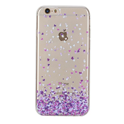 Per iPhone 6 Plus/ 6S Plus Custodia morbido,Herzzer Mode Crystal Creativo Elegante Fenicottero Quadro Dipinto Design trasparente case cover,Protettivo Skin in Liscio Smooth Toccare Unico Molto sottile Love Hearts