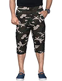 Sapper Military Camouflage Camo Army Printed Stylish Capri Three Fourth For Mens
