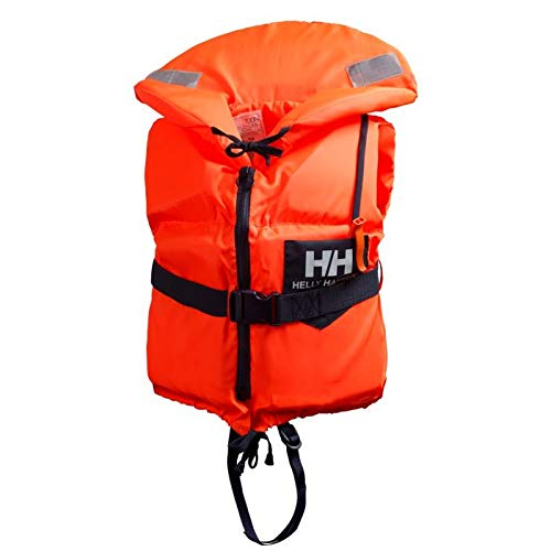Helly Hansen Navigare Scan, Salvagente Unisex Adulto, 210 Fluor Orange, 60/90 kg