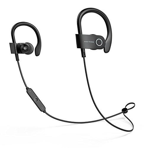 DF2D Bluetooth Sport, IPX7 Étanche Ecouteur sans Fil HiFi Stéréo Casque Bluetooth avec Microphone Anti-Bruit Léger Écouteurs