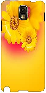 Snoogg Yellow Flowers Background Designer Protective Back Case Cover For Sams...