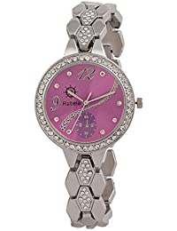 Rabela Women's Analog Purple Dial Watch RAB-848