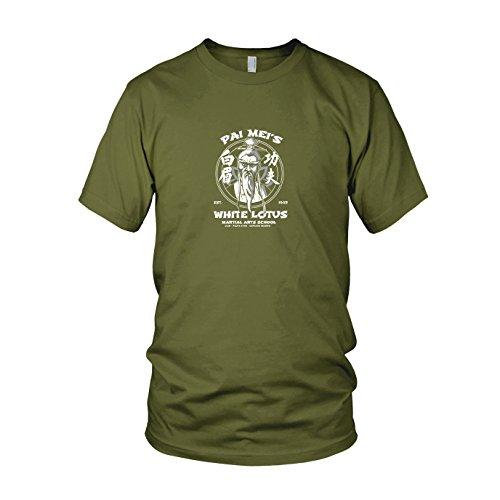 Mei Pai Kostüm - Pai Mei's School - Herren T-Shirt, Größe: M, Farbe: Army