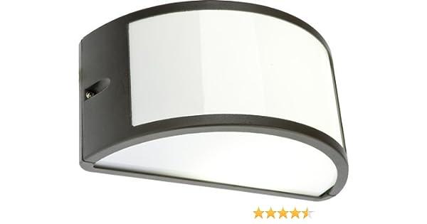 Plafoniera Per Esterno In Plastica : Lampada applique nera plafoniera da esterno mezzaluna cm