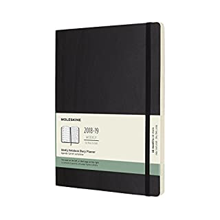 Moleskine Planner Diary 2019 18M Weekly Notebook Xl Black Soft Cover