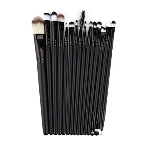 Ulable 15 pcs/Ensemble de pinceaux de maquillage kit Ombre à paupières Eyeliner Mascara Yeux Brosse outils