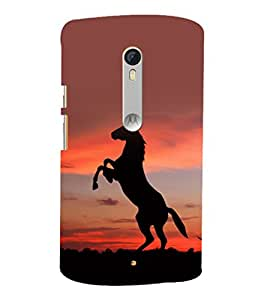 printtech Nature Animal Horse Stallion Back Case Cover for Motorola Moto X Style