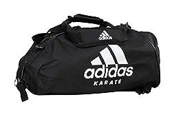 adidas Sporttasche - Sportrucksack Karate schwarz/Weiss, Gr. L