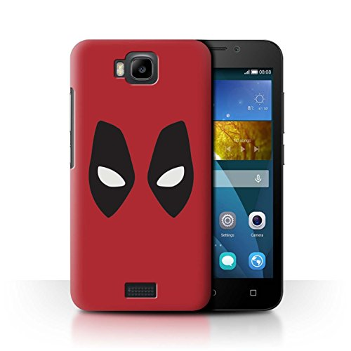 Stuff4® Hülle/Case für Huawei Honor Bee/Y5c / Deadpool Maske Inspiriert Muster/Superheld Comic-Kunst Kollektion -