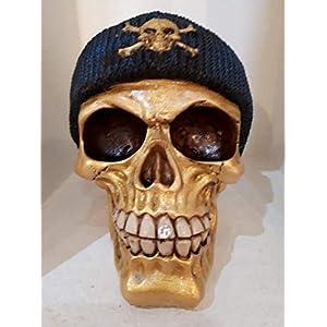 Handgefertigte Spardose Golden Skull