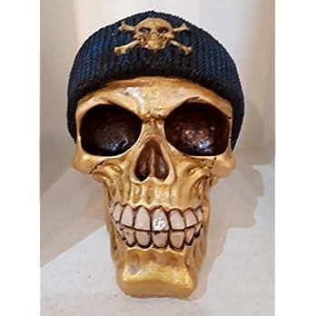 Handgefertigter Totenkopf Golden Skull