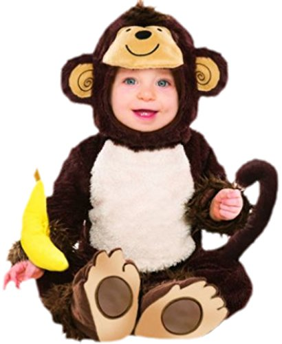 erdbeerloft - Baby - Jungen Niedliches Affenkostüm, Babykostüm, Fasching, Karneval, M, Braun