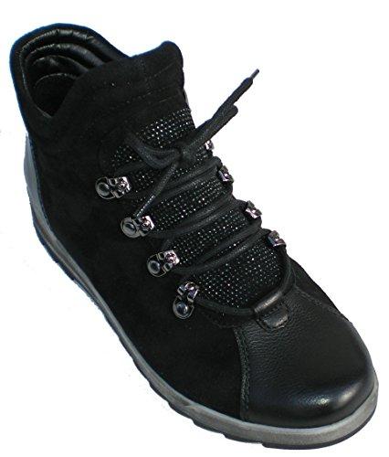 Ara 12-44631 Rom-Sport-St donna boots larghezza G per solette sciolti Nero