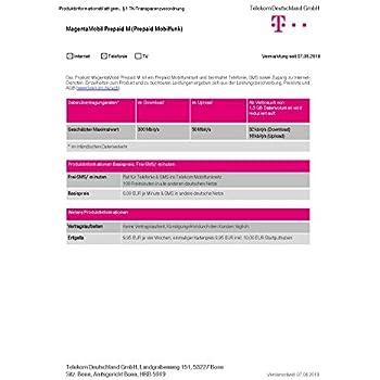 Telekom Karte Aktivieren.Telekom Magentamobi Start S Prepaid Karte Mit Flat Zu Amazon De