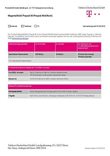 Magenta Mobil Start M Xtra Karte Telekom 10 Euro Guthaben Prepaid Handy SIM T-Mobile zum selber registrieren Prepaid-handy-sim