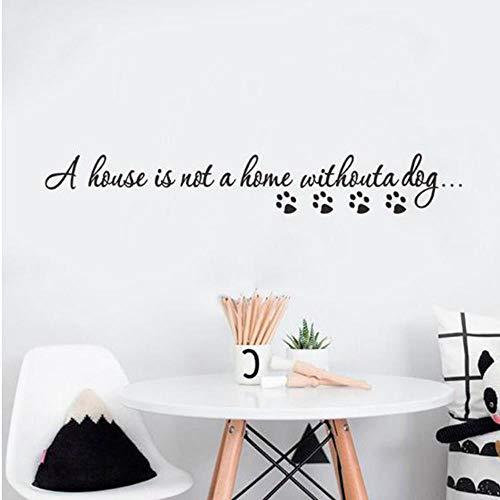 OTXA Haus ist Nicht ohne Hund zu Hause Wandaufkleber Wohnzimmer Hintergrund Dekoration Wandbild Kunst Aufkleber Aufkleber Tapete