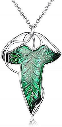 Collana - Spilla Elfica - Il Signore Degli Anelli - Lorien - Lothlorien - Brooch Leaf - Lord of the rings - Film - Serie TV - Elfi - Cosplay - Uomini - Donne - Unisex - Bigiotteria