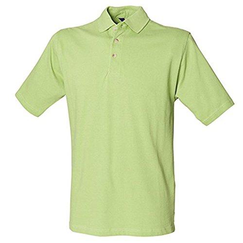 Henbury Herren Modern Poloshirt Lime