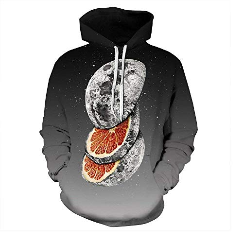 Weimilon Space Sweatshirt Mode Galaxys Kappe Männer Nner Mit Frauen Pullover Hooded Sweats Herbst Winter Hoody Drucken Star Whirlpool (Color : QYDM134, Size : L) - Kappe Whirlpool