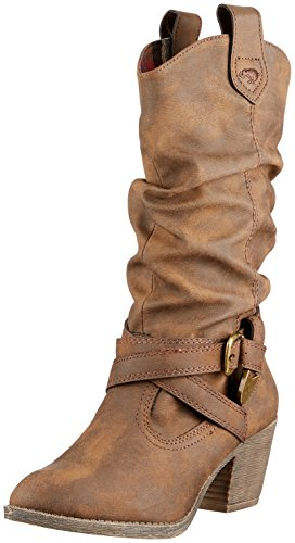 Rocket Dog Damen Sidestep Cowboystiefel, Brown Graham, 38 EU