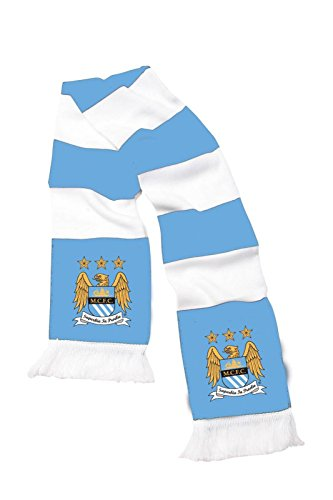 Soccer Sports Manchester City Football Club sostenitori Jacquard bufanda azul/blanco
