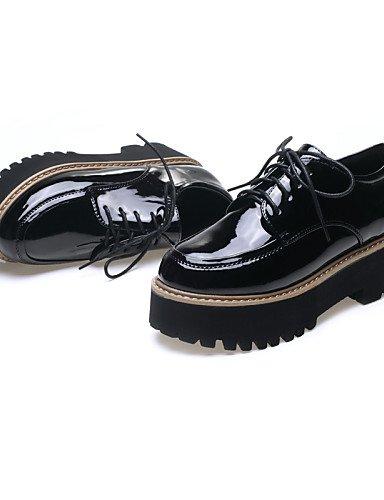 ZQ hug Scarpe Donna-Sneakers alla moda-Tempo libero / Formale / Casual-Creepers-Piatto-Vernice-Nero / Argento / Borgogna , silver-us8 / eu39 / uk6 / cn39 , silver-us8 / eu39 / uk6 / cn39 silver-us7.5 / eu38 / uk5.5 / cn38