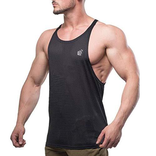 Herren Tanktop Volltonfarbe Tank Top atmungsaktiv Tankshirt T-Shirt mit Print Unterhemden Europäischer und amerikanischer Stil Ärmellos Weste Muskelshirt Fitness Kleidung Marlene1988