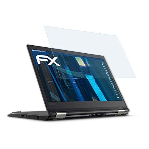 atFolix Schutzfolie kompatibel mit Lenovo ThinkPad T470 Panzerfolie, ultraklare & stoßdämpfende FX Folie (2X)