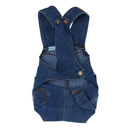 LOSVIP Haustierkleidung 2019,Blue Jeans Lätzchen Overalls Hosen (Blau,S)